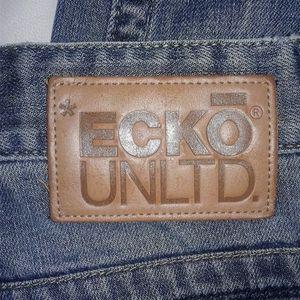 Blue Jeans Sz 38 Vintage Wash Distressed ECKO